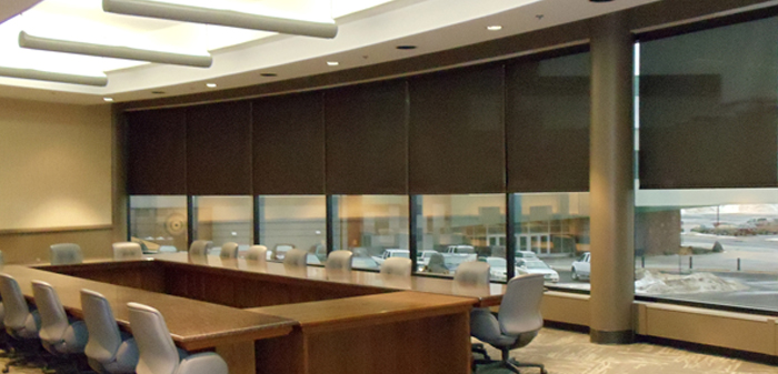 Roller Shades Conference Room