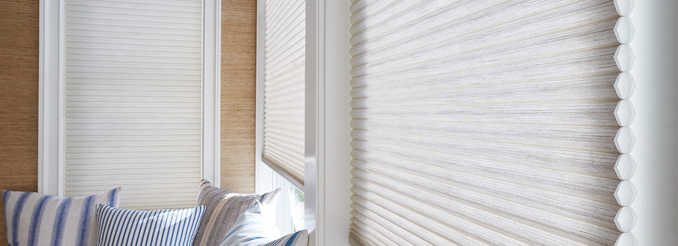 Cellular Blinds in White