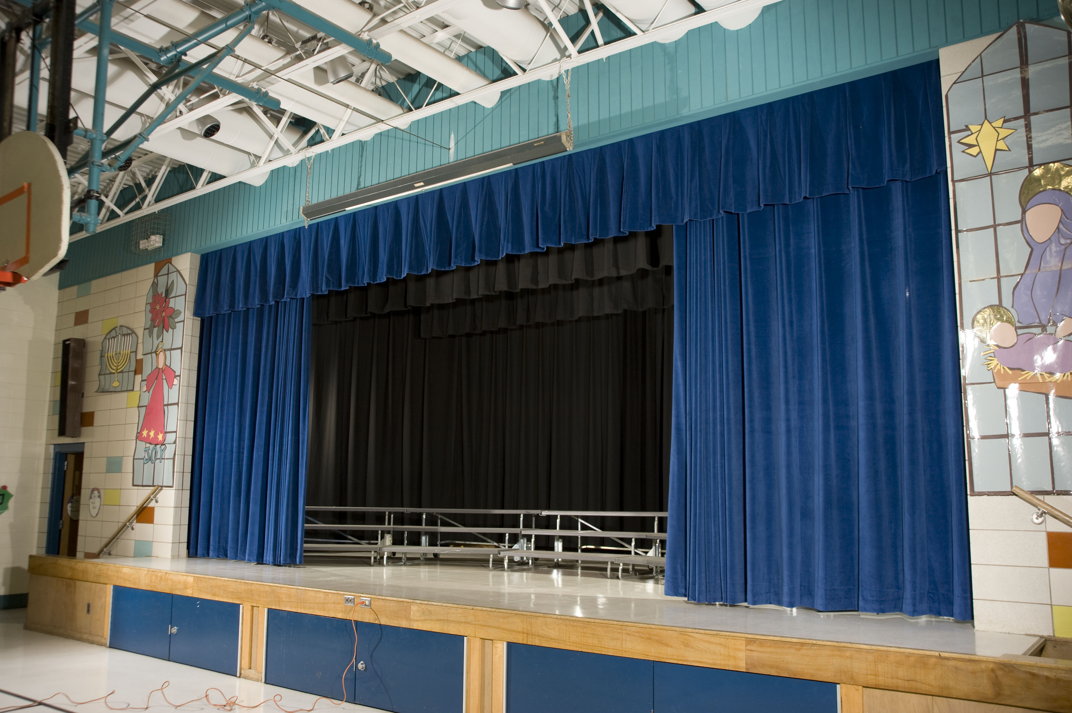 Blue Stage Drapes