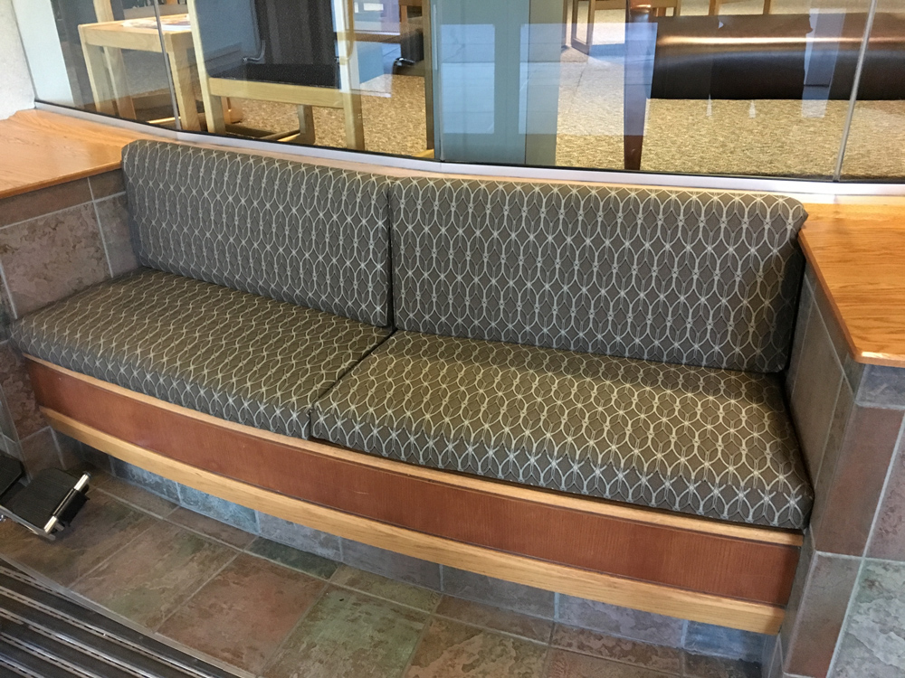 Commercial Upholstery on seat